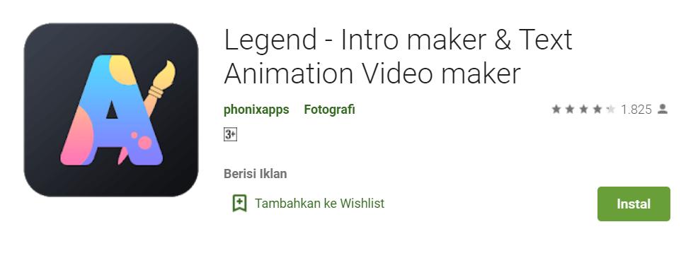 Legend Intro maker Text Animation Video maker