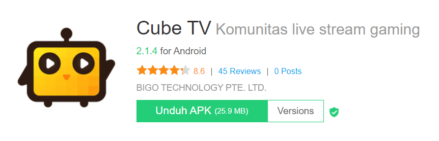 CubeTV Live Streaming Game