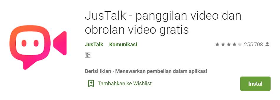 Aplikasi video call streaming