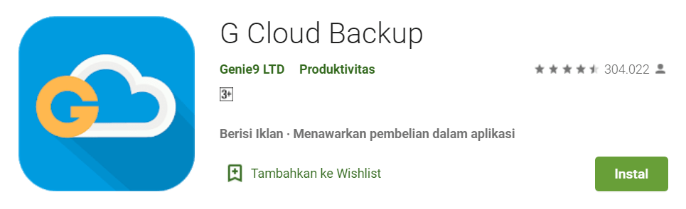 Backup app data Android