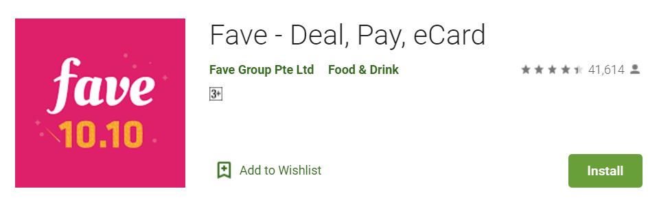 Fave Deal Pay eCard