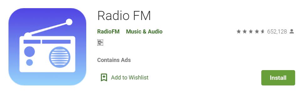 Aplikasi streaming radio