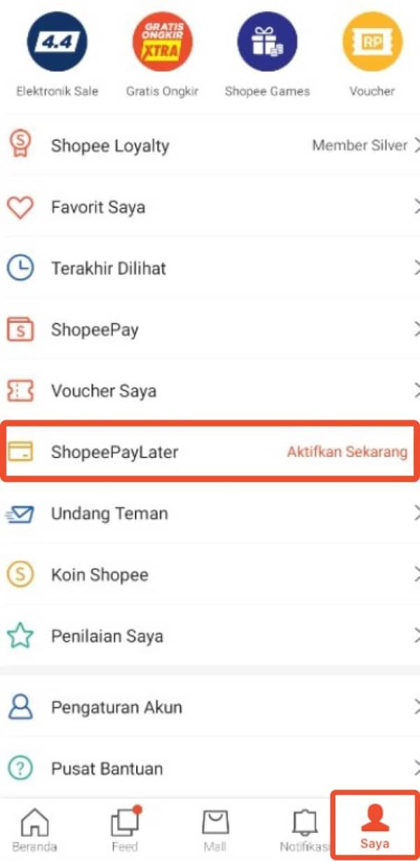 Cara daftar paylater Shopee terbaru