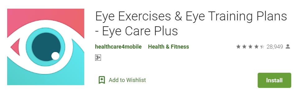 Eye Exercises Eye Training Plans Eye Care Plus