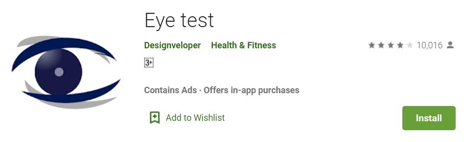 Aplikasi tes mata minus terbaik