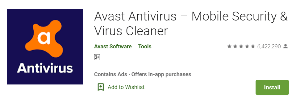 Avast Antivirus Mobile Security Virus Cleaner
